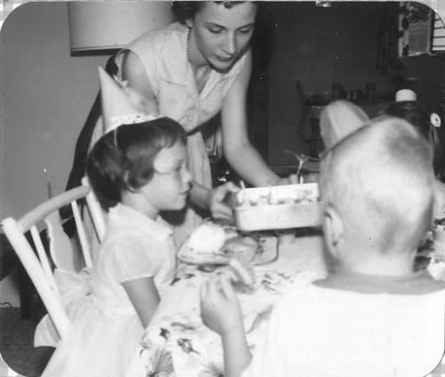 1959: my birthday in our living room