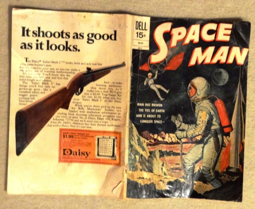 Notice the back of this comic  is an ad for a Daisy  air gun (see previous post about cowboys and guns).