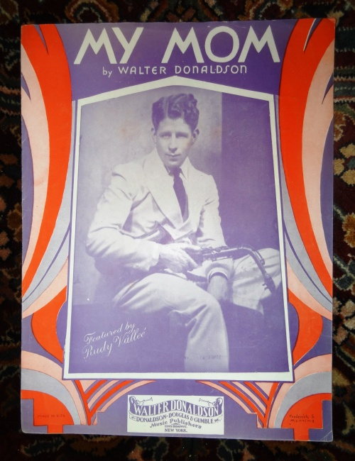 Rudy Vallee First 20th c. pop star