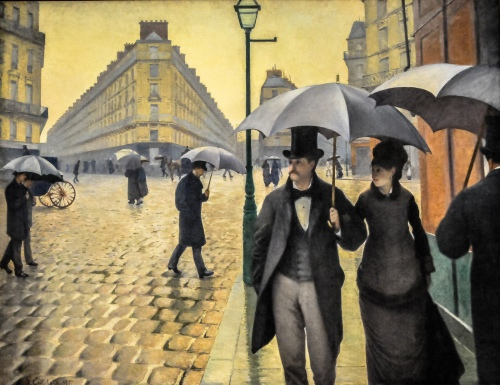 One of my favorite paintings at the Chicago Art Institute: Gustave Caillebotte - Paris Street; Rainy Day, 1877