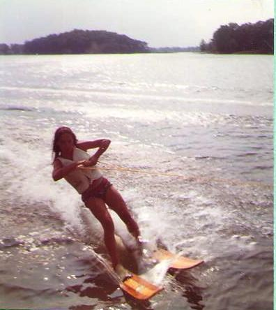 Young teen me on the lake
