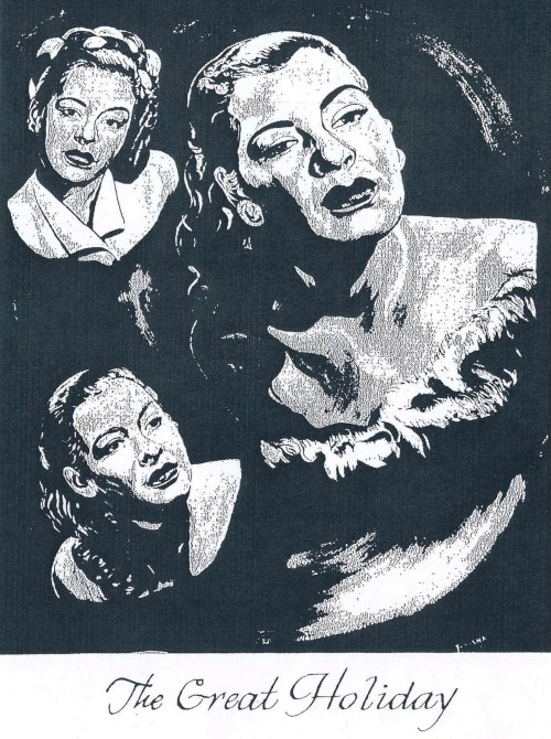 "Billie Holiday from ""The Birdland Story"" Mural by Diana Dale"