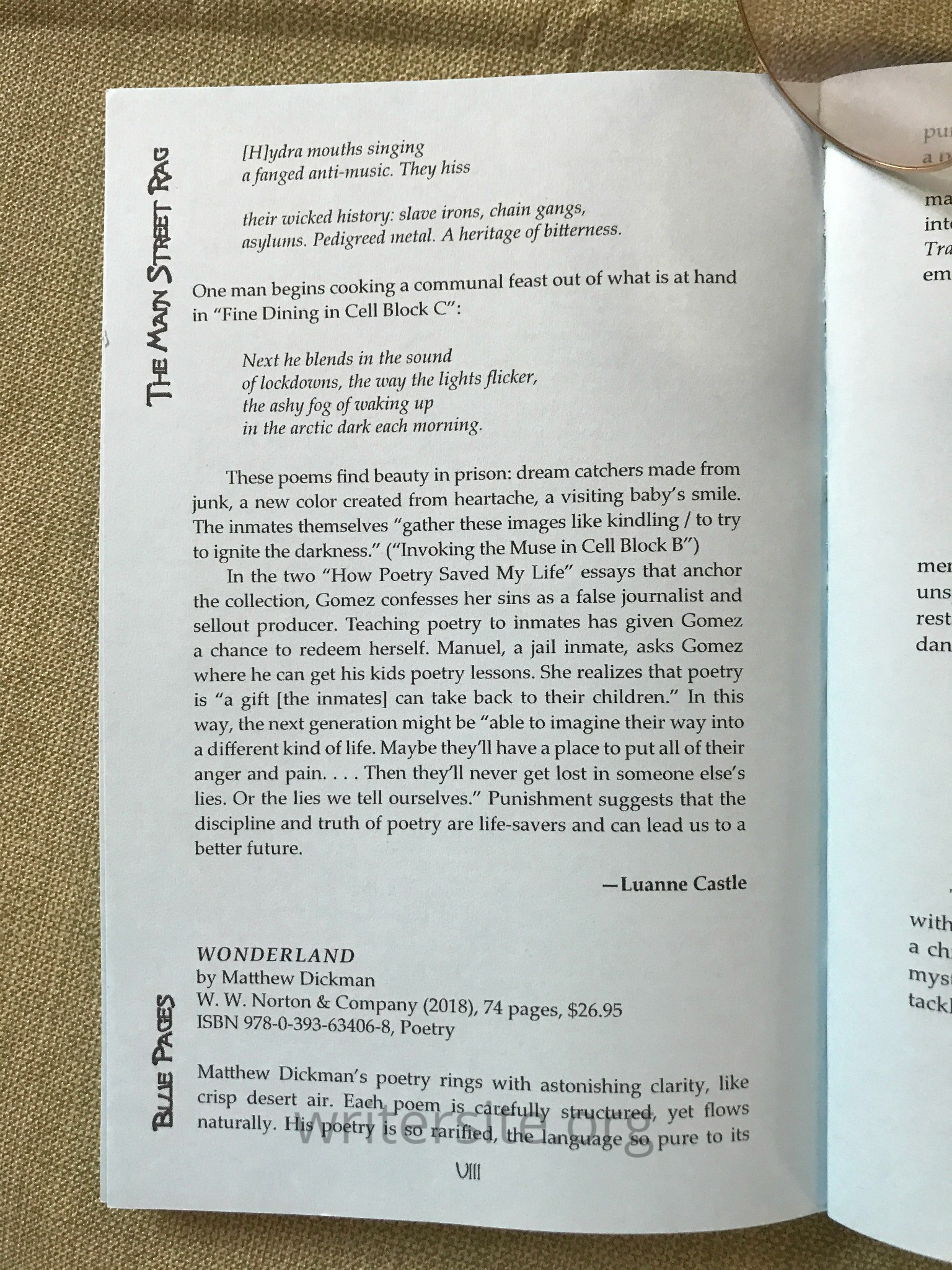 poetry chapbook | Luanne Castle's Writer Site